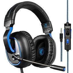 SADES R4 Gaming Headset Xbox One, PS4 Controller,3.5mm Wired