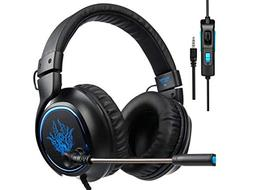 SADES R5 Gaming Headset Over-Ear Stereo Noise-Reduction Head