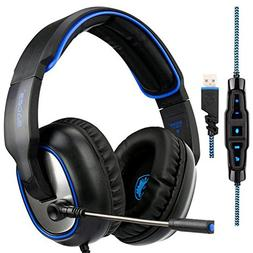 SADES R7 Gaming Headset USB Surround Sound Over-Ear Gaming