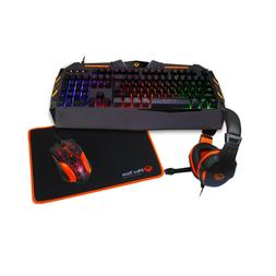 MeeTion Rainbow Gaming Keyboard, Mouse, Mouse Pad, and Heads