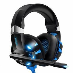 RUNMUS Gaming Headset Xbox One, PC, PS4 With 7.1 Surround So