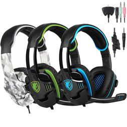 Sades SA-708GT Gaming Headset Headphone 3.5mm HiFi Stereo w/