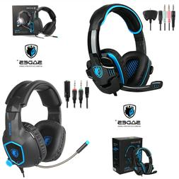 SADES SA-708GT Gaming Headset Stereo Headphone For PS4 Xbox