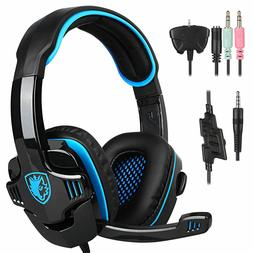 Sades SA-708GT Stereo Gaming Headphones Headset Headband wit