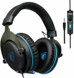 SADES SA-R3 3.5mm Stereo Gaming Headset Headphone with Volum