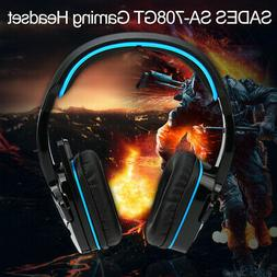 Sades SA708GT Surround Sound Pro Gaming Headset with Mic For