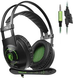 Sades SA801 Over-Ear Stereo Gaming Headset with Microphone N