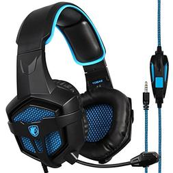 Sades SA807 Stereo Gaming Headsets Over Ear Heaphones With M