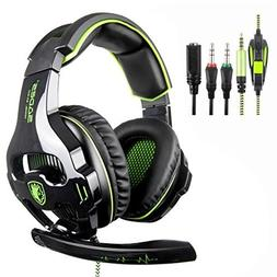 SADES SA810 New Updated Gaming Headset Xbox One Headset Over