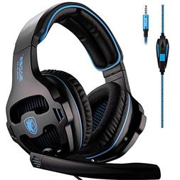 Sades SA810 Stereo 3.5mm Wired Gaming Headset Headphones wit