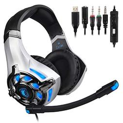 SADES SA822T Stereo Gaming Headset for Xbox One,PS4,PC,Contr