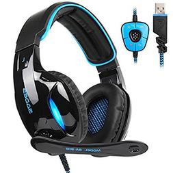 sa902 gaming headset wired usb