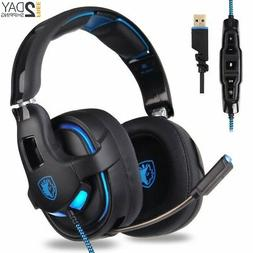 SADES PC Gaming Headset, 7.1 Surround Stereo Sound R15 USB C
