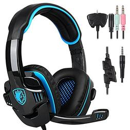 SADES SA-708 GT Stereo HiFi Gaming Headset Headphone with Mi