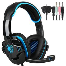 Sades708GT 3.5mm Gaming Headset Surround Stereo w/Mic for PS