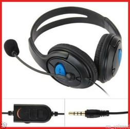 For Sony PS4 Play Wired Gaming Headset Headphones With Micro