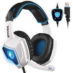 SADES Spirit Wolf USB 7.1 Computer Gaming Headset Wired Ster