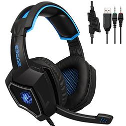 SADES Spirit Wolf 3.5mm Wired Computer Gaming Headset with M