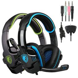 Sades-708GT Stereo Surround Headset USB Headband PC Laptop P