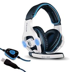 Sades Stereo 7.1 Surround Pro USB Gaming Headset Headband He
