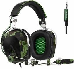 Wired Stereo Bass Surround Gaming Headset for PS4  PC with M