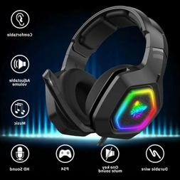 ONIKUMA Stereo Bass Surround Gaming Headset for Playstation