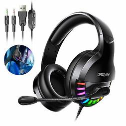 Stereo Bass Surround Mic Gaming Headset Headphone For PS5/Xb