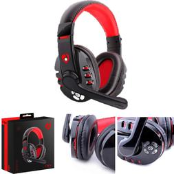 Stereo Bluetooth Gaming Headset Headphones Earphone With Mic