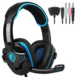 SADES Stereo Gaming Headphone with Microphone, Blue