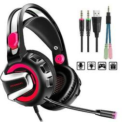 Stereo Gaming Headset for PS4 Xbox One, PHOINIKAS 3.5mm Bass