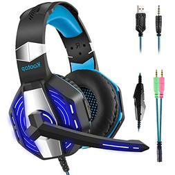 Kootop Stereo Gaming Headset for Xbox one ,PS4 PC, Noise Can