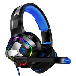 Stereo Gaming Headset for PC Gaming Console, Over-Ear, RGB L