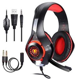 BlueFire Stereo Gaming Headset for Playstation 4 PS4 Over-Ea