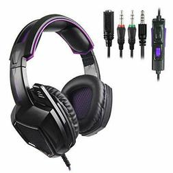 Stereo Gaming Headset for PS4 PC Xbox One Controller, SADES
