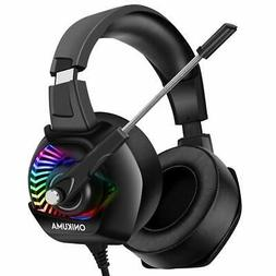 ONIKUMA Stereo Gaming Headset for PC, PS4, Xbox One, Noise C