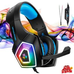 Stereo Headphone Bass Game Gaming Headset for PS4 Slim Pro X