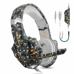 Stereo Pro Gaming Headset Noise Reduction LED PS4 PC MAC Lap