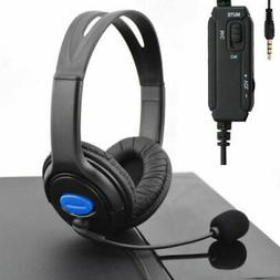 Stereo Wired Gaming Headset Headphones with Mic for PS4 Sony
