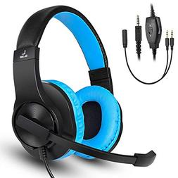 DIWUER Gaming Headset for Xbox one Ps4 PC 3.5mm Stereo Bass
