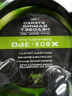 VIBE Stero Gaming Headset with Boom MIC XBOX 360 NEW.