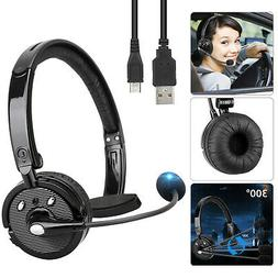 Trucker Driver Headset Bluetooth Wireless Universal PC Gamin