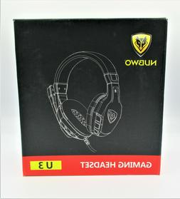 NUBWO U3 3.5mm Gaming Headset for PC, PS4, Laptop, Xbox One,