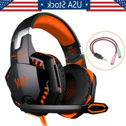 Universal 3.5mm Gaming Headphone Stereo Surround Headset For