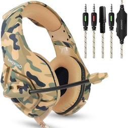 US Wired Stereo Bass Surround Gaming Headset for PS4 New Xbo