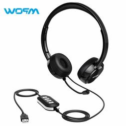 Mpow USB Headset Surround Stereo 3.5mm AUX PC Gaming Compute