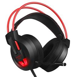 PC Gaming Headset with Mic Virtual 7.1 Surround Stereo Sound