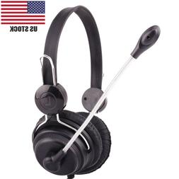 USB Stereo PC Gaming Headset Wired Headphone With Microphone