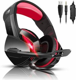 PHOINIKAS USB Stereo Surround Sound Gaming Headset for PS4 P