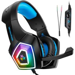 V1 Gaming Headset Mic Stereo Surround Headphone 3.5mm Wired