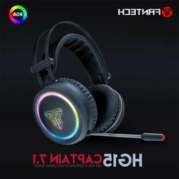 Virtual 7.1 Channel USB Wired Mic Stereo LED RGB Light Gamin